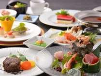 【和洋折衷コース】伊豆の食材を贅沢に使い、食材に合わせ、和と洋の技法を絶妙に組み合わせたディナーです