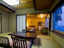 【和洋室】広々とした和洋室は、三世代旅行やグループ旅行でも、皆様でゆったりとお過ごし頂けます