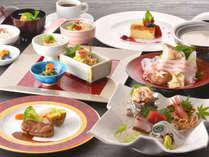 和洋織り交ぜたコース料理はディナーショーを見ながら贅沢に♪[基本コース]2017.10.1~