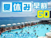 【夏休み7/21~8/31】【早割60】基本プランから2,000円引き