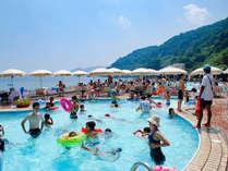 シーサイドプールはア大小2つのプールが併設。小さなお子様も安心して楽しめる!(2020.7/18~8/31)