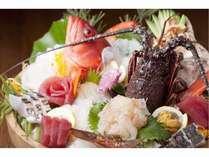 【伊勢えびと地魚の造り】例