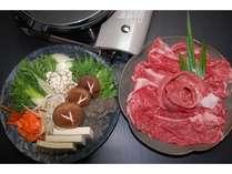 【熊野牛のすき焼き】地元の肉質のいいお肉を使っております。(2人盛り例)