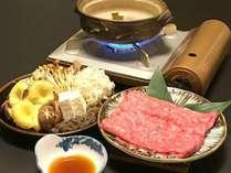 どちらか選べるご夕食タイプより『福島牛のしゃぶしゃぶ』です。
