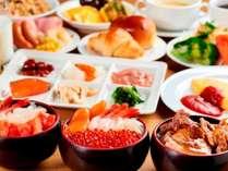【朝食ビュッフェ】人気の海鮮コーナーの他、ホテルメイドのパン・デザートも種類豊富☆