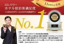 2018年度「ホテル宿泊客満足度No.1」受賞いたしました!