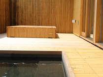 露天風呂付客室「きさらぎ」。H27年7月リニューアル。