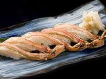 別注料理) カニの握り寿司 : 1人前 2,000円(税別)