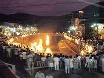 湯村温泉 夏のイベント 『火祭』