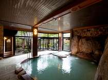 当館自慢の長寿大岩風呂(泡風呂,うたせ湯,岩盤浴もあります)