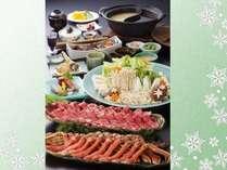 カニ&但馬牛のしゃぶしゃぶ2色鍋 料理イメージ