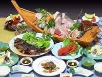 舟盛&選べる伊勢海老料理★ウニてこね寿司弁当(2名様分の料理内容です)