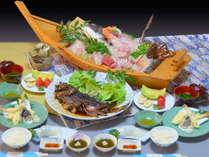 志摩/御座・朝獲れ魚貝類★舟盛料理プラン(2名様分の料理内容です)