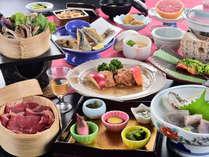 【松コース】女将の有機栽培野菜と信州三大グルメ★ちょっぴり欲張り会席の一例です