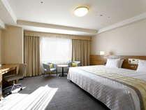 【コンフォートコーナーダブル】ベッド幅230cm×1台/31.1平米/エレガントでゆったりとした空間。