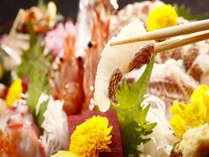 【料理】季節のお造り(一例),静岡県,やぎさわ荘