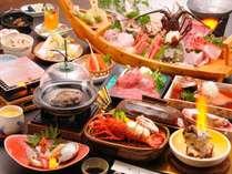 【料理】海鮮づくしプラン(季節の一例),静岡県,やぎさわ荘