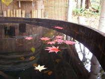 秋の貸切露天風呂(美想の湯)