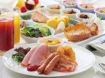 ホテルの朝食♪レストランロジェールで、