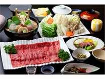 【宮崎牛会席】迷ったらコレ!人気ナンバー1の料理です★日本一の宮崎牛をしゃぶしゃぶと溶岩焼きで♪
