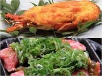 イセエビとオリジナルブレンド味噌の牛焼で満腹に!