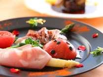 ■贅沢グルメプラン ある日のお料理 目でも楽しめるお食事を