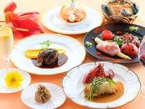 ■贅沢グルメプラン ある日のお料理コース一例