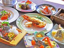 【夕食一例:きらめきプラン】※仕入の状況により、料理の内容が変わる場合があります