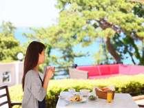 【洋朝食】自然を間近に感じる事の出来る南房総一贅沢なテラスレストランで非日常の朝食時間を。