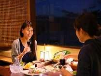 【安房船屋敷】ご夕食は落ち着いた空間でお愉しみください