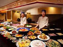 城下町のような活気溢れるレストランで鳴門鯛、阿波尾鶏、ワカメ、すだちなど阿波の美味三昧なひと時を…♪