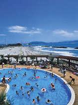 プライベートビーチ&プールで夏を満喫♪サラサラの砂浜は徳島が誇るほどの美しさ!