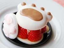 じゃらん限定!苺とクリームたっぷりの可愛い肉球マカロン&肉球マシュマロ♪食べるのがもったいない!!