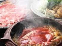 黒毛和牛のすき焼きは土佐ジロー玉子と阿波和三盆糖を使った割下で、お召し上がりください