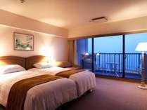 鳴門海峡を見わたす明るいお部屋(DXツイン・サウス一例)