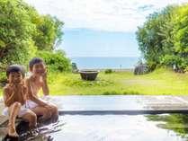 波の音に癒され、天然温泉で湯ったり♪鳴門海峡を望む絶景『露天風呂』☆明るいうちに入るのがオススメ