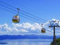 猪苗代湖の眺望を楽しみながら1250mの山頂駅まで片道10分の磐梯山ロープウェイ♪山頂駅からの眺めも絶景!