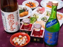*【GOZZOバイキング】味わいの異なる地酒。飲み比べもおすすめです。