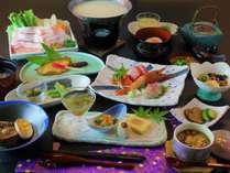 秋田の食材を使った夕食(一例)