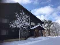 当館の冬の外観です