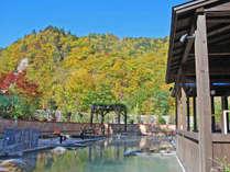 【希みの湯】紅葉を眺めながら温泉でリラックス