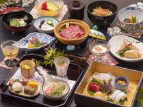 <夕食一例・花>季節の食材をふんだんに使用した懐石コース