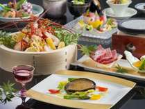 『味重(みえ)めぐり会席』料理イメージ※伊勢海老料理は4名様盛り(2019年4月~9月)