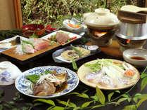 ◆鯛づくしプラン◆鯛しゃぶ、鯛のお刺身、鯛釜飯、鯛の兜煮、鯛の塩焼きが付いております。