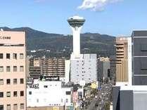 客室から見える五稜郭タワー