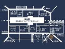 ☆TOYOHOTELアクセスガイド☆ ◆博多駅より徒歩2分◆