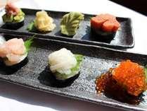 北海道ならではの海産物を個々盛りでご提供!