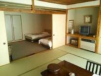 禁煙 和洋室一例和室10畳+ベッド2台+広縁スペースバス・トイレ付