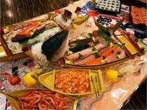 夕食バイキングメニュー例 お刺身船盛り(メニューは順次変更します)