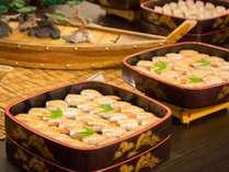 夕食バイキングの一例 (お寿司)